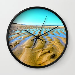Waves of the Past Wall Clock