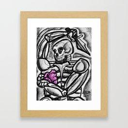 Heart & Dagger Framed Art Print