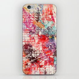 Chicago map painting iPhone Skin