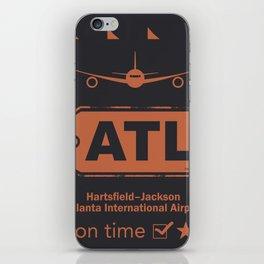 Hartsfield–Jackson Atlanta International Airport tag coffee iPhone Skin