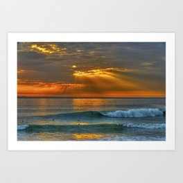Sunset and a Show Art Print