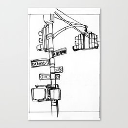 W. Broadway and Leonard, NYC Canvas Print