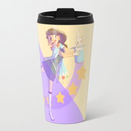 a magician and her assistant Travel Mug