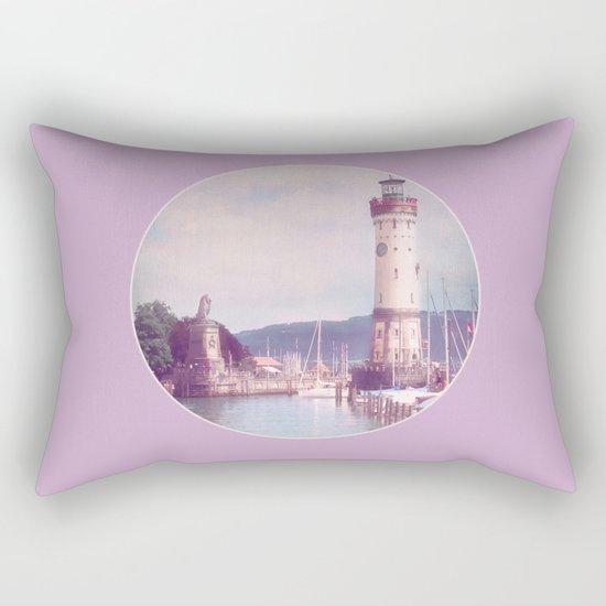 Lighthouse at Lindau, Lake of Constance Rectangular Pillow