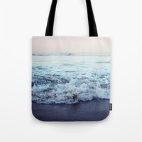 shipping Tote Bags featuring Crash into Me by Leah Flores