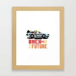 Back to the future: Delorean Framed Art Print