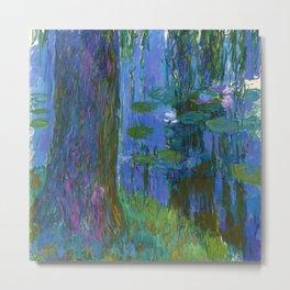 "Claude Monet ""Saule pleureur et bassin aux nymphéas"" (Weeping Willow and Water Lily Pond) Metal Print"