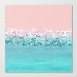 Pastel ocean abstract Canvas Print