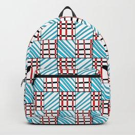 symetric tartan and gingham 19 -vichy, gingham,strip,square,geometric, sober,tartan Backpack
