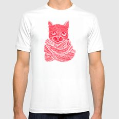 It's a Cat-Wrap SMALL White Mens Fitted Tee