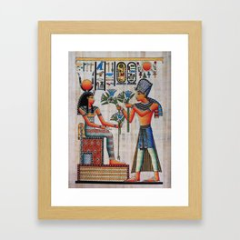 Isis On Papyrus Framed Art Print