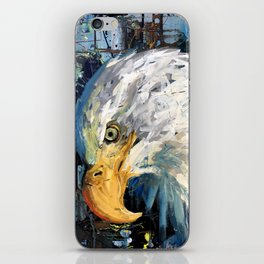 """Humble Warrior"" original painting, eagle art, bald eagle, eagle painting, bird of prey, wildlife.. iPhone Skin"