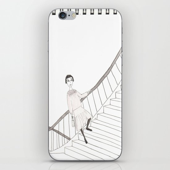 girl on a stair iPhone & iPod Skin