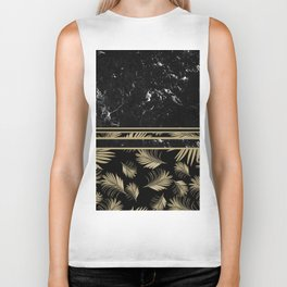 Black Marble Meets Tropical Palms #1 #decor #art #society6 Biker Tank