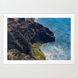 Kauai Seaside Cliff Art Print