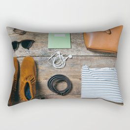 Get ready for the trip. Woman edition Rectangular Pillow