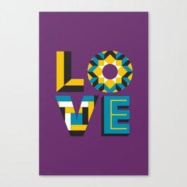 LOVE - Purple Canvas Print