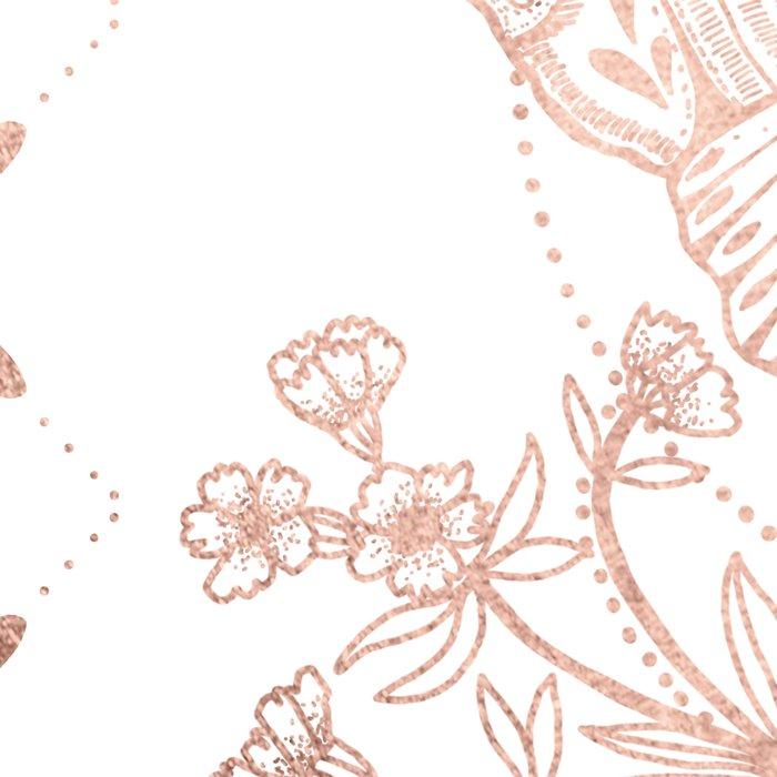 Magical Moth In Rose Gold Leggings