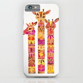 Giraffes – Fiery Palette iPhone Case
