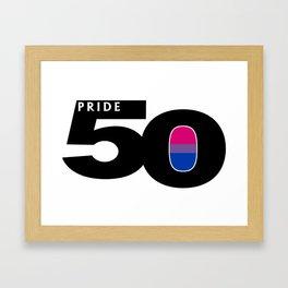 50 Pride Bisexual Pride Flag Framed Art Print