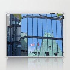 Maple leaf mirror Ottawa Laptop & iPad Skin