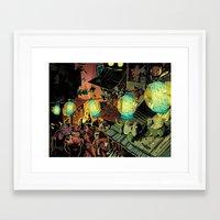 lanterns Framed Art Prints featuring Lanterns by Christine Larsen