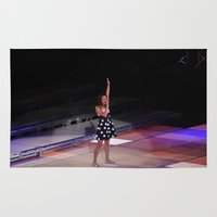 glee Area & Throw Rugs featuring Glee Concert: Lea Michele by Jackie Lalumandier