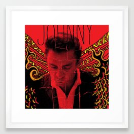 Wings of Fire Johnny Cash Framed Art Print