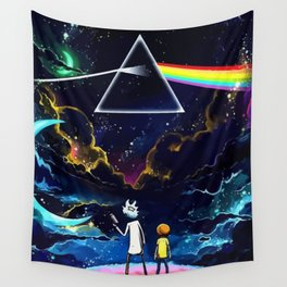 The dark side of a man and a boy Wall Tapestry