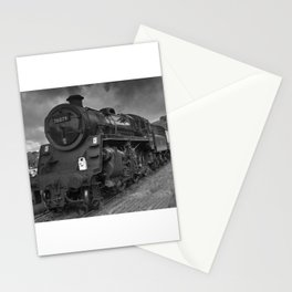 Steam tran, mono image Stationery Cards