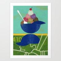 Summer Scoops Art Print