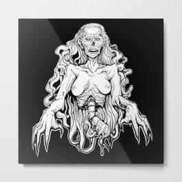 1/2 Lady Corpse Metal Print