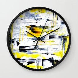 Bumble Bee Abstraction Wall Clock