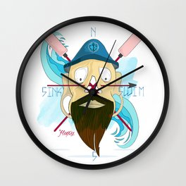 Sink Or Swim: Captain Størmark. Wall Clock