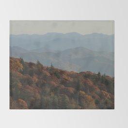 Blue Ridge Mountains Throw Blanket