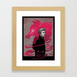 Naega Wolf Xiumin Red Framed Art Print