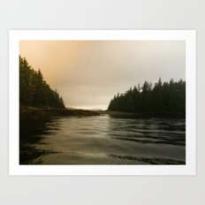 They Mysterious Island Art Print
