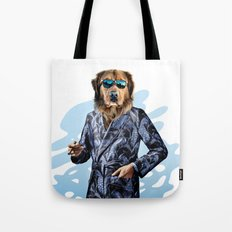 Smoking Dog Pepe Psyche Tote Bag