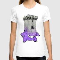 gengar T-shirts featuring Castle Gengar by notalkingplz