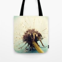coconut wishes Tote Bags featuring wishes by Beverly LeFevre