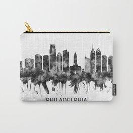 Philadelphia Pennsylvania Skyline BW Carry-All Pouch