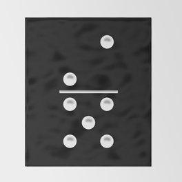 Black Domino / Domino Negro Throw Blanket