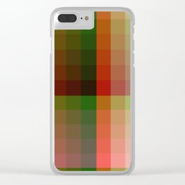 Color harmony ...red , green Clear iPhone Case