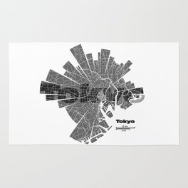 Tokyo Map Rug