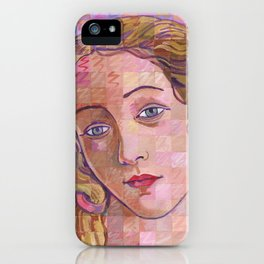 Variations On Botticelli's Venus – No. 4 (Iridescence) iPhone Case