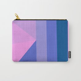 Geometrical modern pastel pink lilac blue stripes triangles Carry-All Pouch