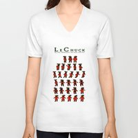 monkey island V-neck T-shirts featuring Monkey Island - LeChuck's Moves by Sberla