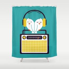 Radio Mode Love Shower Curtain