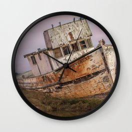 Abandoned Shipwreck Wall Clock