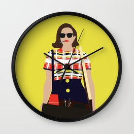 Peggy Olson Mad Men Wall Clock